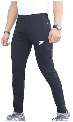 Fitinc Apparels Men Lycra Track Pants - Black