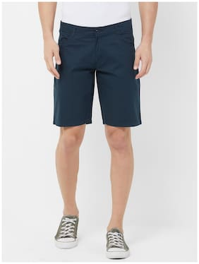 Fitz Men Blue Regular Fit Regular Shorts