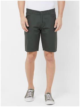 Fitz Men Green Regular Fit Regular Shorts