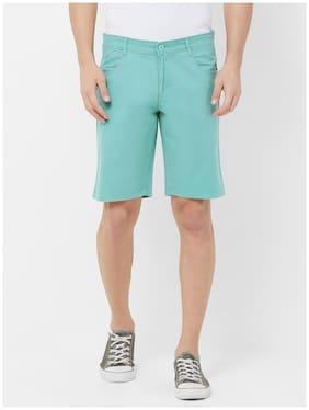 Fitz Men Green Regular Fit Regular Shorts