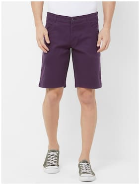 Fitz Men Purple Regular Fit Regular Shorts