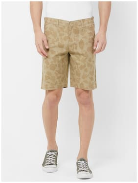 Fitz Men Beige Regular Fit Regular Shorts