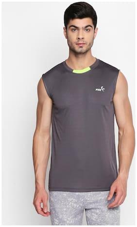 Fitz Men Grey Regular fit Lightweight Sports T-Shirt
