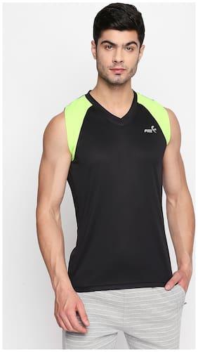 Fitz Men Black Regular fit Lightweight Sports T-Shirt