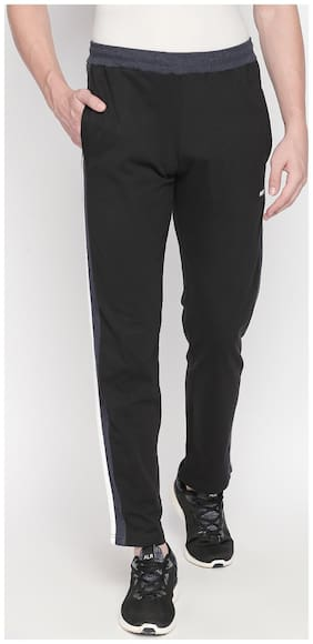 Fitz Men Black Solid Regular fit Joggers