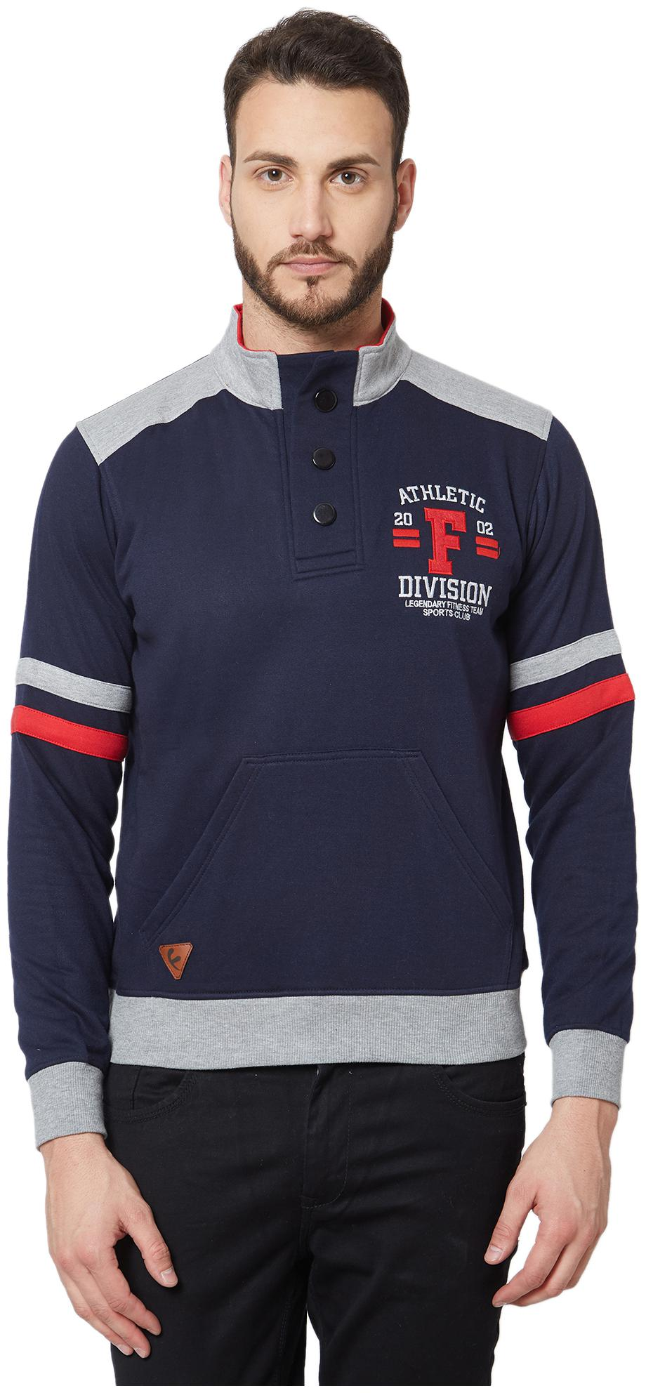 Fitz Poly Cotton Sweatshirt For Mens