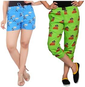 Flamboyant Women Printed Regular shorts & Regular capri - Multi