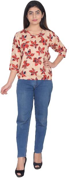 Flamboyant Women Floral Regular top - Red
