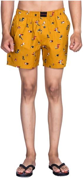 Flamboyant Men Yellow Regular Fit Regular Shorts