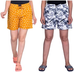 Flamboyant Women Printed Regular shorts - Multi