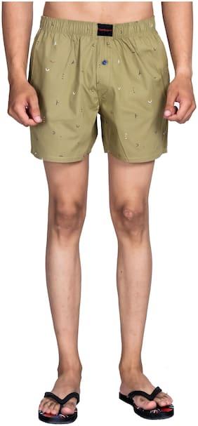 Flamboyant Men Green Regular Fit Regular Shorts