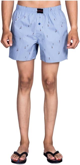 Flamboyant Men Blue Regular Fit Regular Shorts