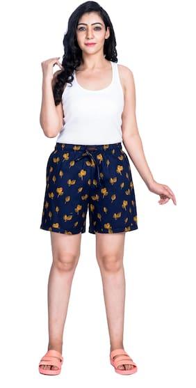 Flamboyant Women Printed Regular shorts - Blue