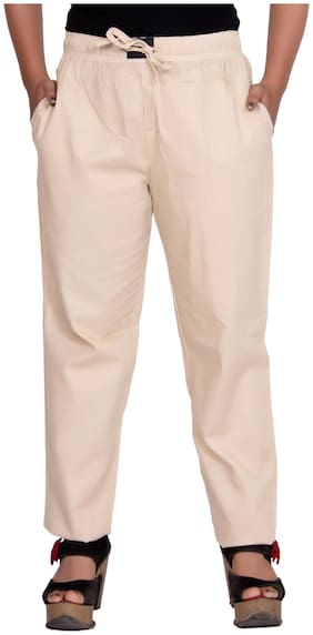 Flamboyant Women Regular fit Printed Regular pants - Cream