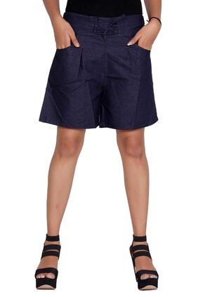 Flamboyant Women Printed Shorts - Blue
