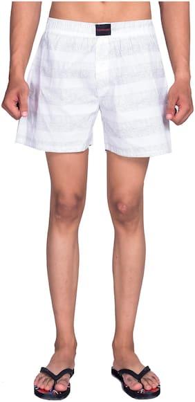 Flamboyant Men White Regular Fit Regular Shorts