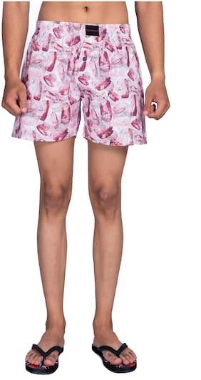 Flamboyant Men Pink Regular Fit Regular Shorts