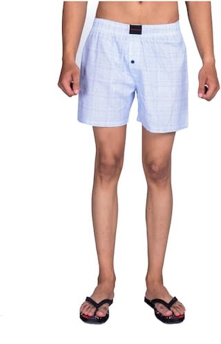 Flamboyant Men Blue Regular Fit Regular Shorts