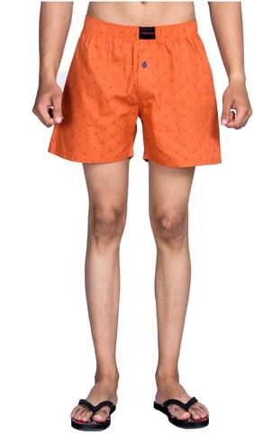 Flamboyant Men Orange Regular Fit Regular Shorts