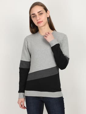 Fleximaa Women Colourblocked Sweatshirt - Multi