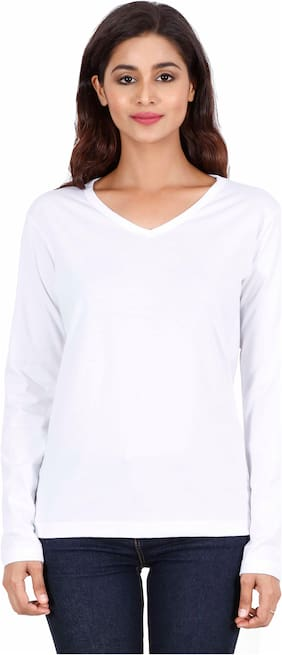 Fleximaa Women Solid Wrap top - White