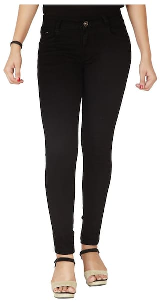 Flirt Nx Women's High Rise Stretchable Black Jeans