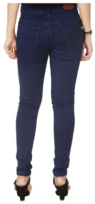Flirt Nx Women's High Rise Stretchable Dark Blue Jeans
