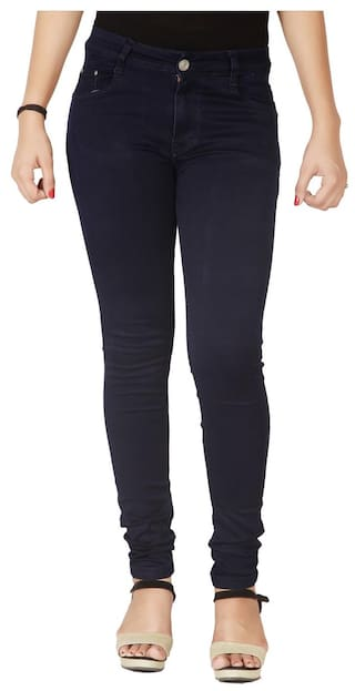 Flirt Nx Women's High Rise Stretchable Navy Blue Jeans