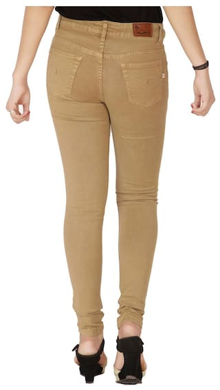 Rise Nx Stretchable Dark Beige Women's High Jeans Flirt tAwd7q7