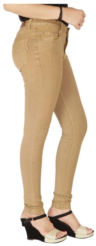High Flirt Rise Nx Women's Beige Stretchable Jeans Dark qqE4wcUP