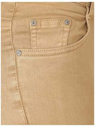 Flirt High Dark Jeans Rise Beige Women's Nx Stretchable EaWqErB