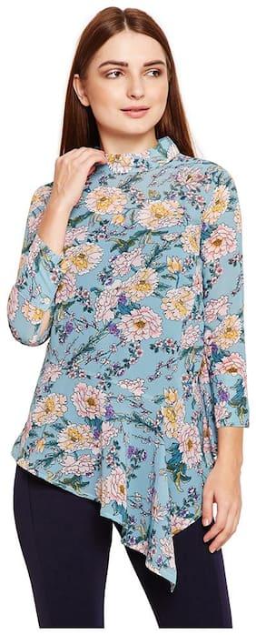 Women Printed High Neck Top