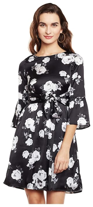 Floral Dress with Belt