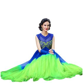 Florence Green Net Santoon Embrodried Unstitched Dress Material