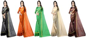 Blended Universal Saree ,Pack Of 5