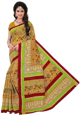 Florence Multicolor Blended Printed Sarees(FL-PT-MANGOSIX01)