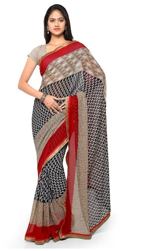Florence Multicolor Georgette Embroidered Saree with Blouse