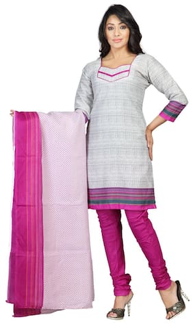 Women Cotton Dress Material Pack of 1