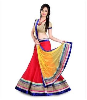 Net Festive Lehnga Choli ,Pack Of Choli & Lehenga