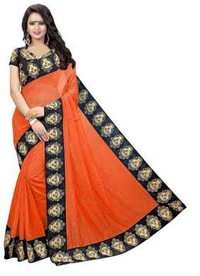 Florence Women's Chanderi Cotton Saree with Unstitched Blouse Piece (SR008)