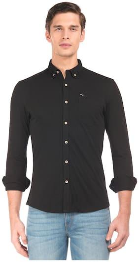 Flying Machine Men Slim Fit Casual shirt - Black