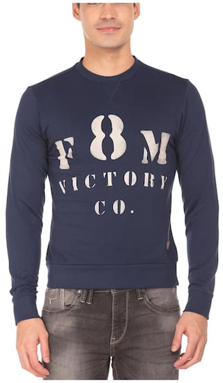 6e6d1a5114011 Buy Flying Machine Men Cotton Sweatshirt - White Online for Men at ...