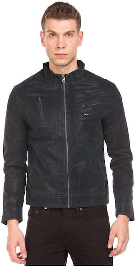 Men PU Long Sleeves Jacket
