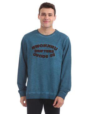 Flying Machine Men Cotton Sweatshirt - Blue