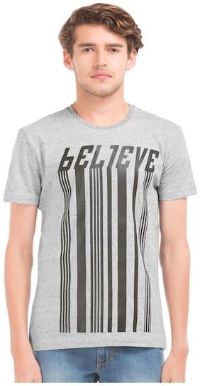Flying Machine Grey Standard Mens T-shirt