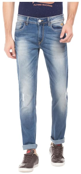 Flying Machine Men Mid Rise Slim Fit ( Tapered Fit ) Jeans - Blue