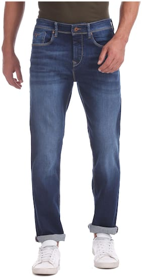 Flying Machine Men Mid rise Straight fit Jeans - Blue