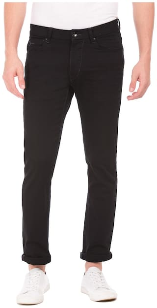 Flying Machine Men Mid rise Slim fit Jeans - Black
