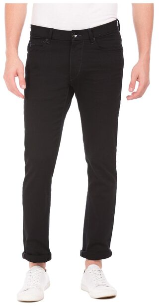 Flying Machine Men Mid Rise Slim Fit ( Tapered Fit ) Jeans - Black