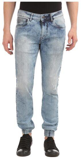 Flying Machine Men Mid Rise Regular Fit ( Jogger Fit ) Jeans - Grey